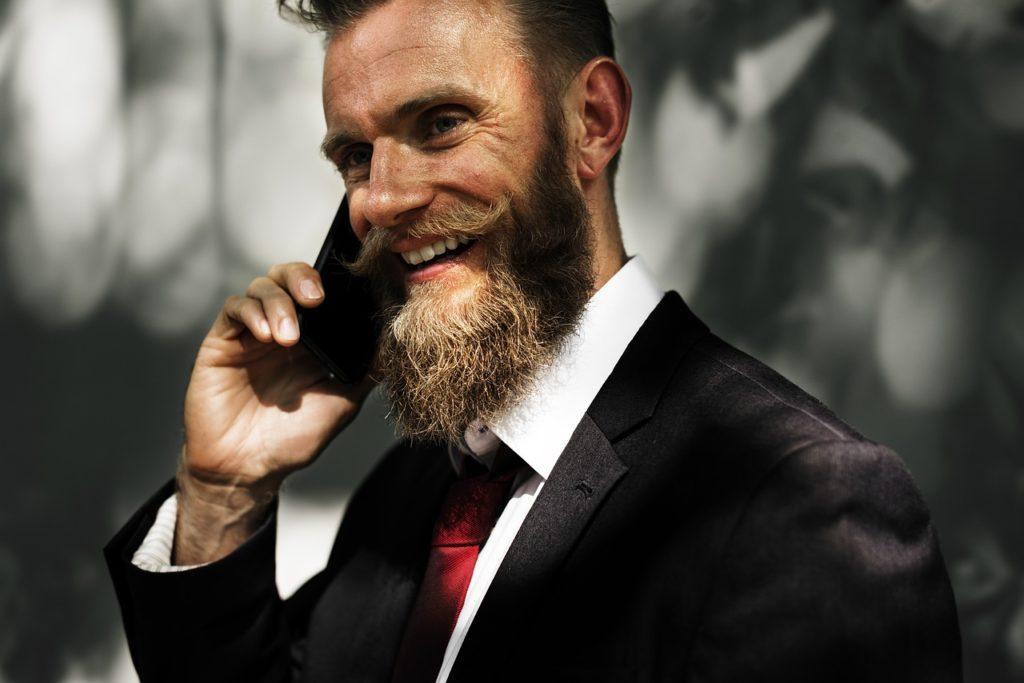 電話をしているひと