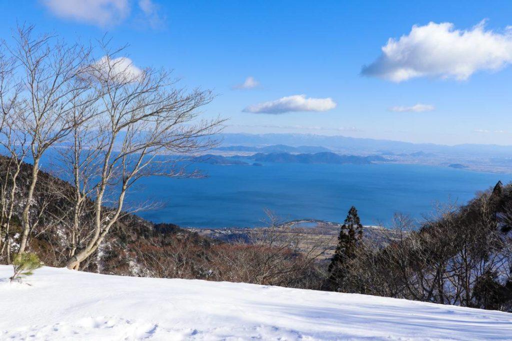 武奈ケ岳の北比良峠からの眺め