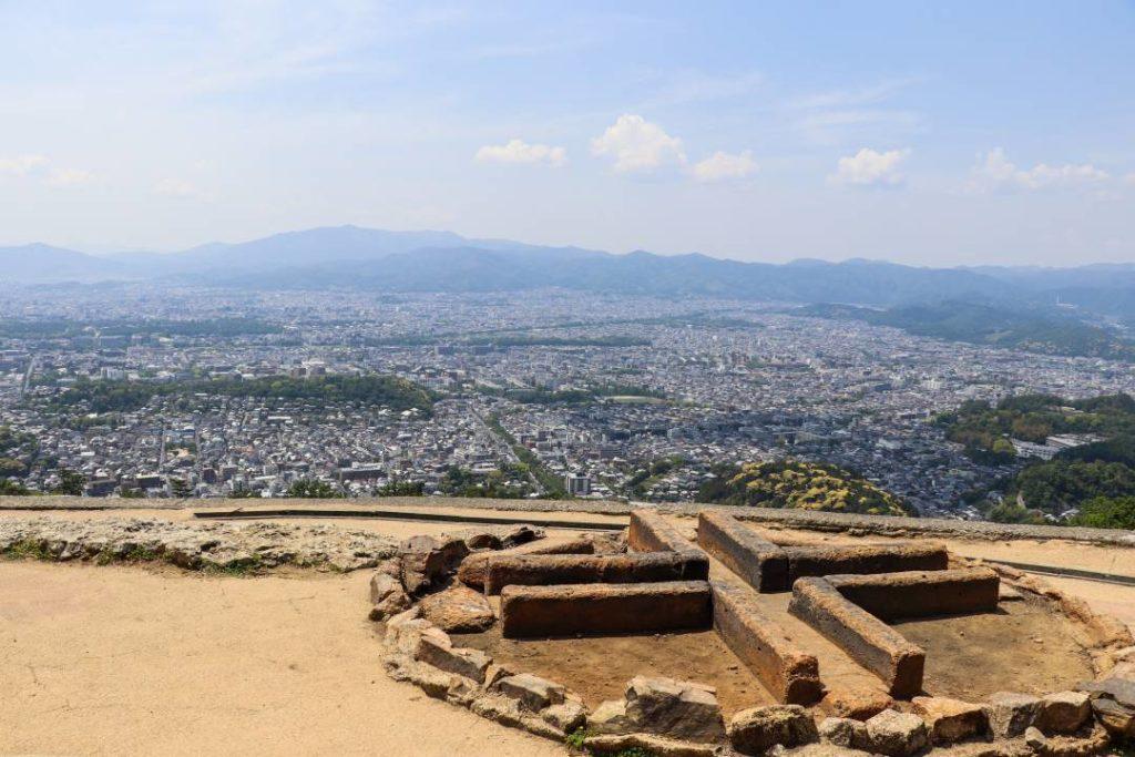 大文字山の火床からの眺め