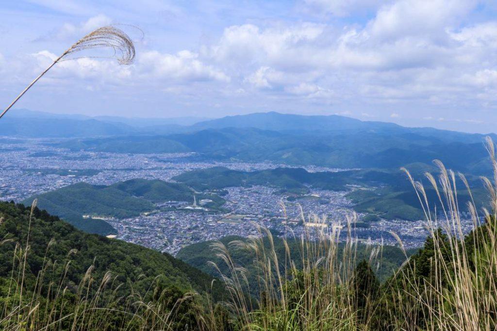 比叡山山頂からの京都市内の眺め