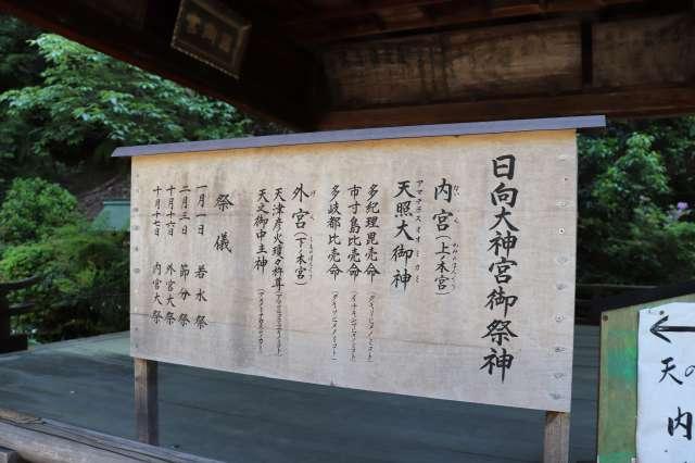 日向大神宮の看板