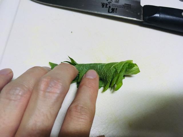 大葉の千切りのやり方の写真
