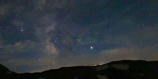 立山で撮影した星の写真